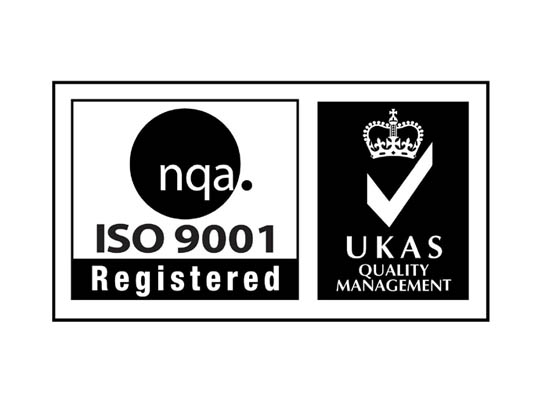 ISO 9001 Registered UKAS Quality Management logo - Feeney Electrical Derry